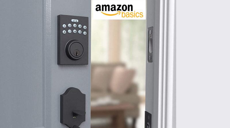 AmazonBasics Contemporary Electronic Keypad Deadbolt